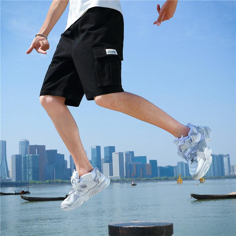 158款夏季工装短裤男士宽松加厚五分户外裤中裤休闲男旅游短裤
