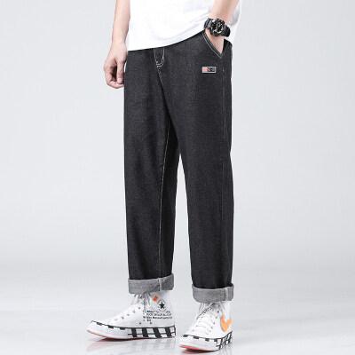2020男装休闲牛仔裤直筒宽松纯棉无弹力新款长裤子