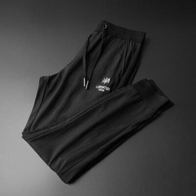 2020新款男士休闲裤 轻奢潮牌条纹小脚裤  运动裤男87806-P115