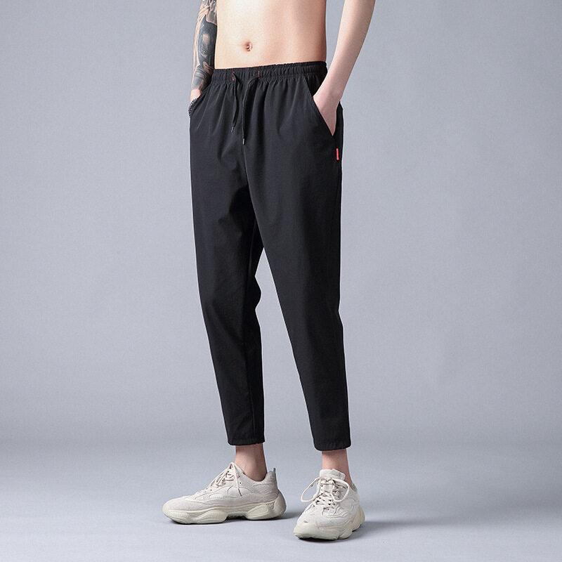 8860男士休闲九分裤薄款2020夏季新款韩版青年学生束脚小脚裤简约男装