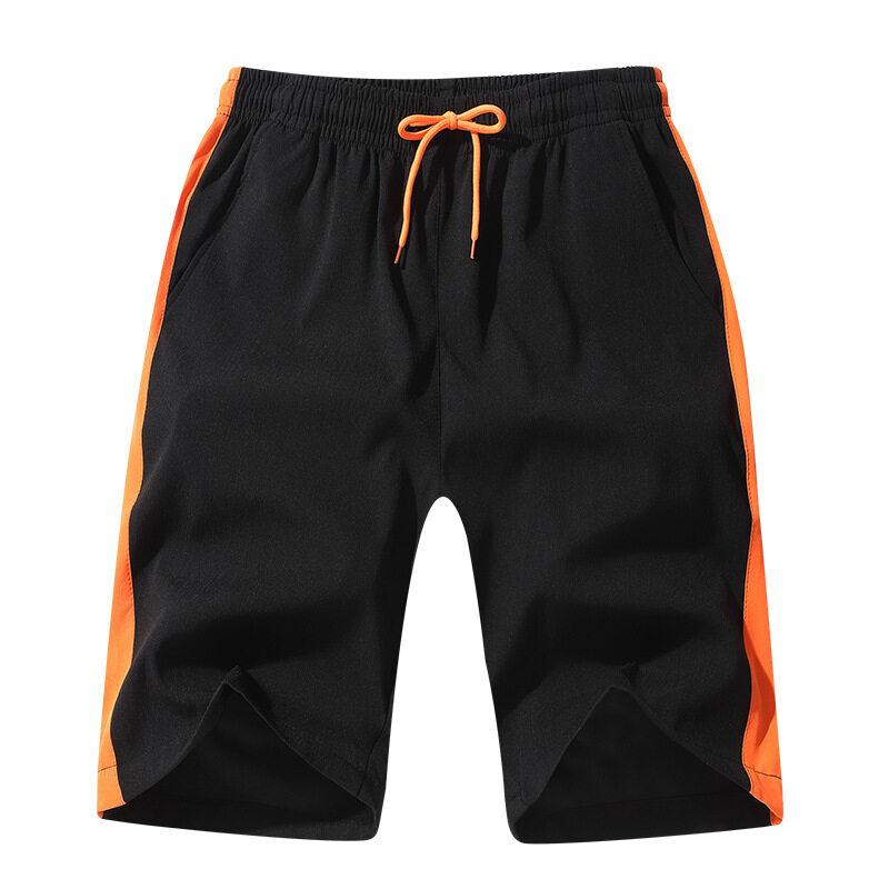 1810休闲五分裤男士短裤2020夏季新款韩版宽松透气微弹条纹运动短裤潮