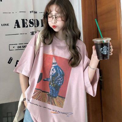 2020夏季新款女装T恤宽松ins韩版学生原宿bf风怪味短袖