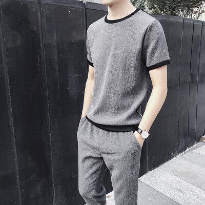 2020夏季新款男士工装短袖t恤韩版潮牌潮流ins衣服帅气搭