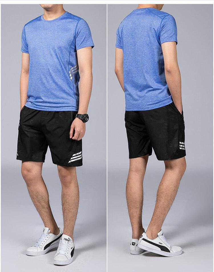 037休闲运动服套装男夏季2020新款时尚潮流