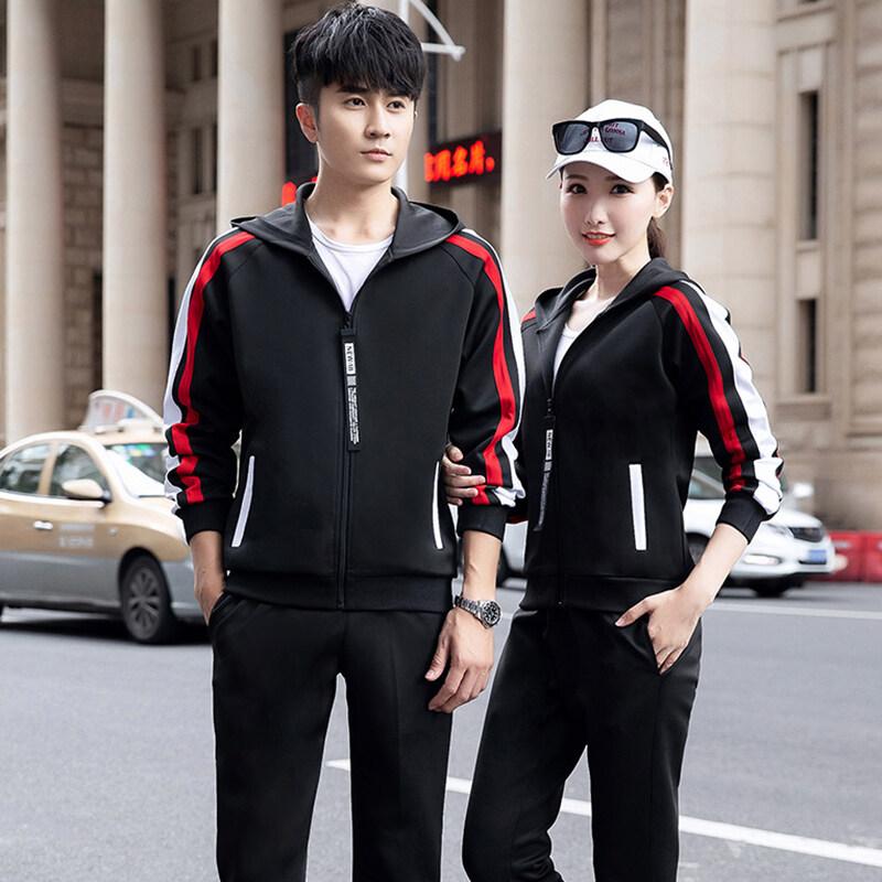 9608运动套装男春秋女休闲跑步运动服青少年长袖卫衣学生时尚情侣套装