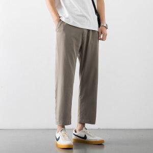 韩版裤子男生夏季休闲长裤2020新款潮流运动BK299 TP25