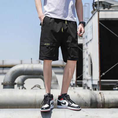 短裤男士夏季潮流七分裤ins潮牌宽松中裤运动裤休闲工装五分裤