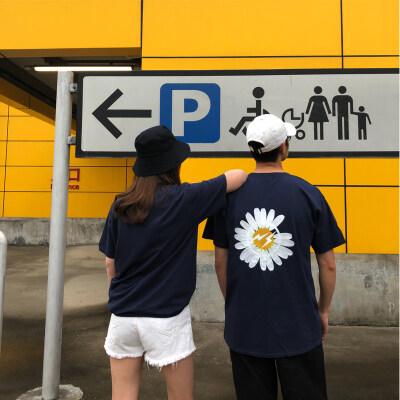 t恤女2020夏季新款男士t恤韩版宽松大码纯棉圆领短袖t恤