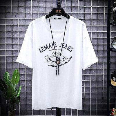2020新款男士短袖t恤潮牌丅半袖体桖韩版潮流夏季男装宽松