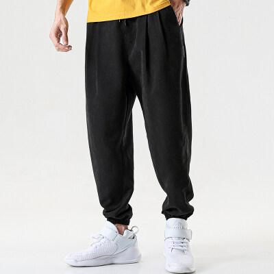 男装休闲裤针织裤长裤夏季2020新款卫裤九分裤