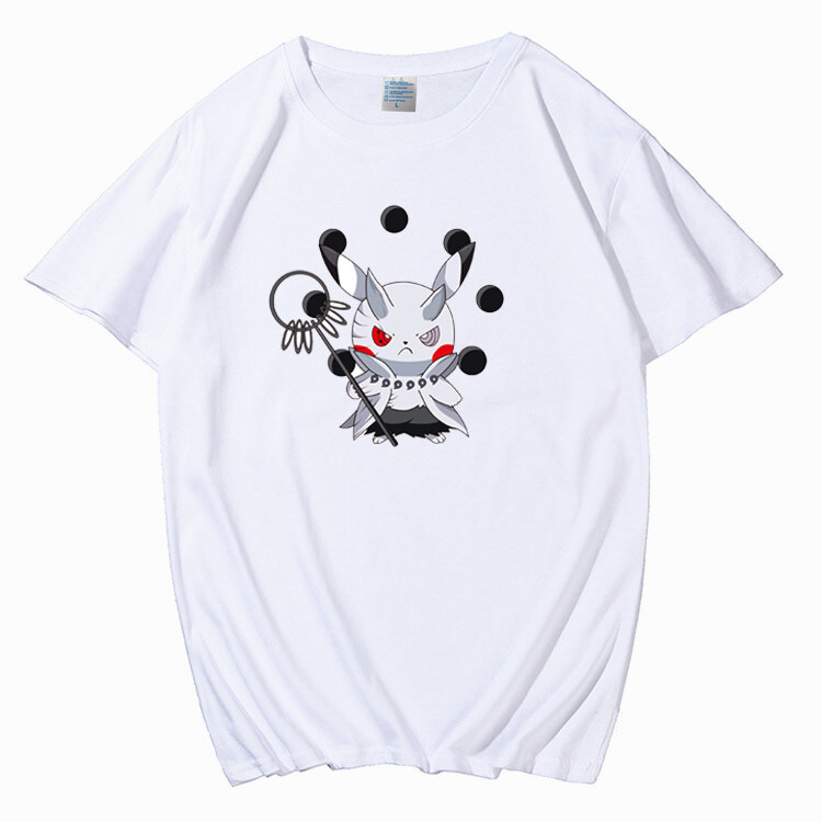 P01-P09男士短袖t恤上衣服皮卡丘潮牌潮流半袖打底衫2020新款夏季