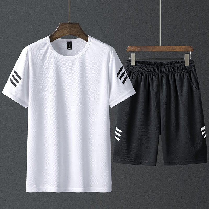 K33男士短袖t恤套装夏季韩版潮流休闲一套潮牌搭配帅气男装衣服