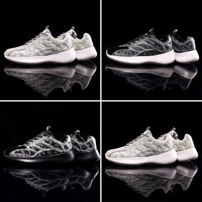 满足【663】梅西同款夜光运动鞋跑步鞋 全黑 白色 灰白3