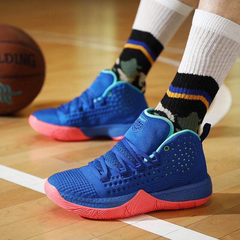 F13高品质休闲篮球鞋男女儿童通用防滑减震运动鞋四面弹鞋面高帮板鞋