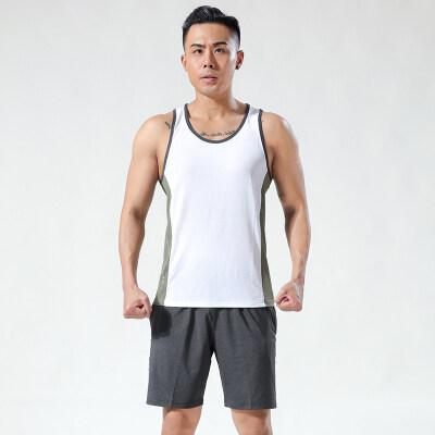 运动背心男夏季短袖健身速干坎肩无袖宽松跑步T恤篮球训练健身衣