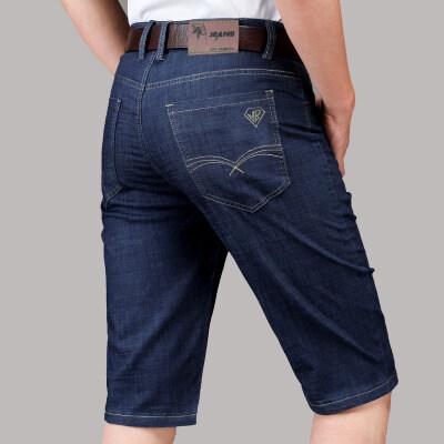 夏季男装牛仔短裤宽松五5分短裤子弹力牛仔裤男青年