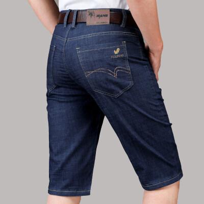 男装牛仔短裤宽松五5分短裤子夏季弹力牛仔裤男青年
