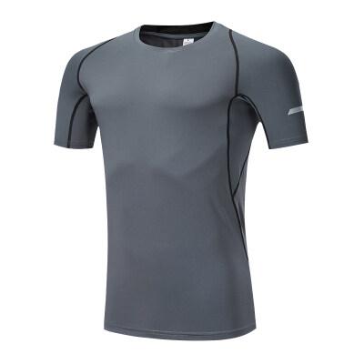 运动健身短袖T恤男速干透气弹力紧身半袖跑步训练打底衫1814