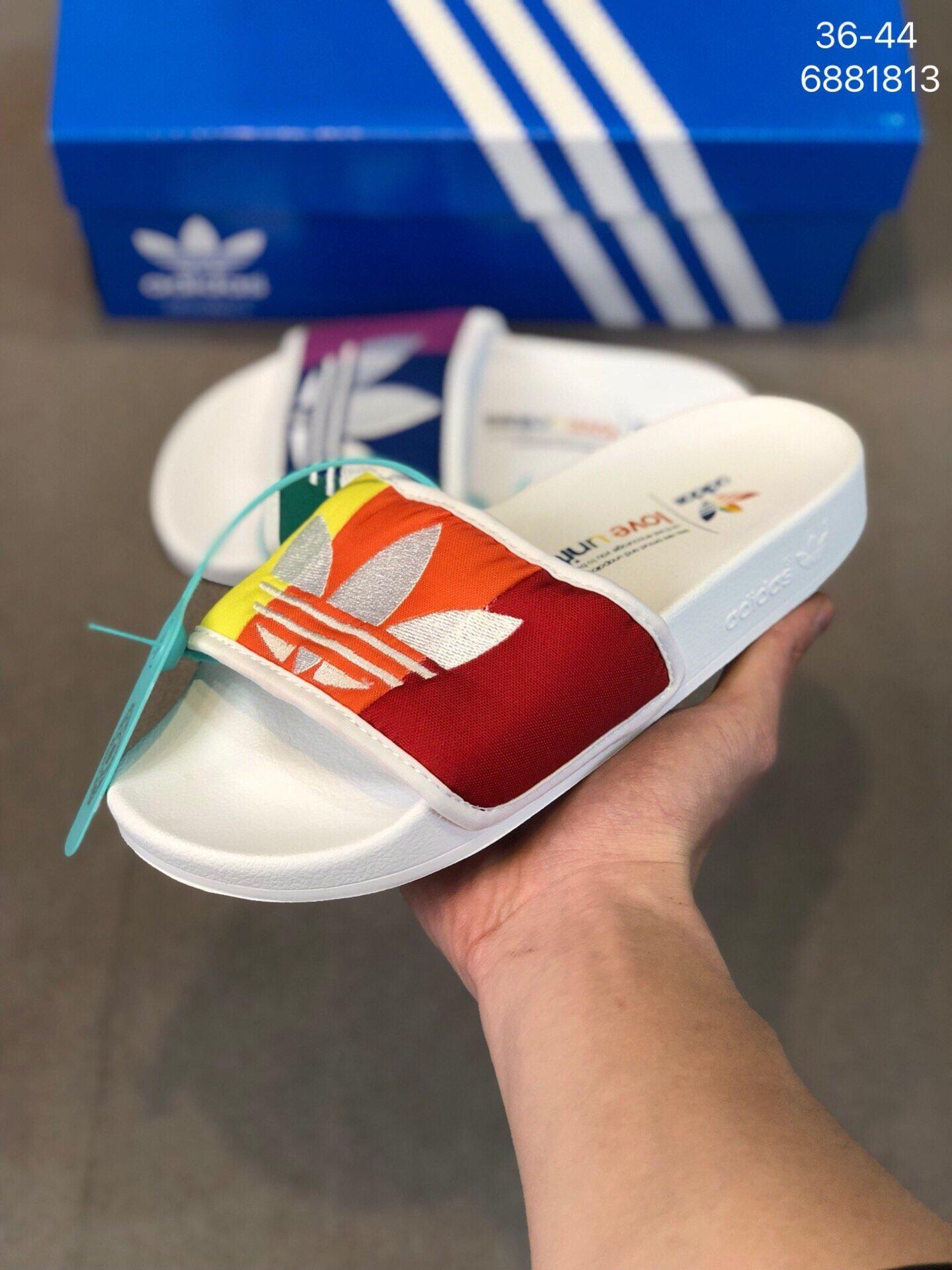1502轻便透气彩虹鸳鸯男女鞋情侣款运动休闲拖鞋沙滩鞋 莆田鞋