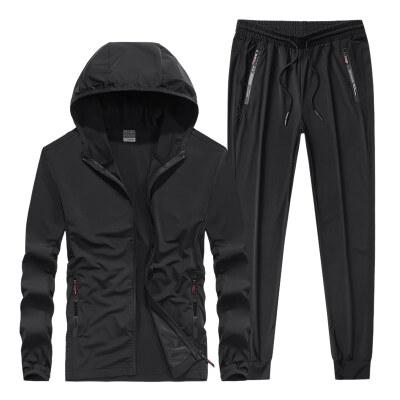 夏季超轻薄防晒衣透气冰丝钓鱼服装男款套装户外垂钓服速干连帽衫