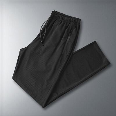 空调裤男网眼冰丝裤男超薄夏季休闲裤薄款运动直筒速干裤量大从优