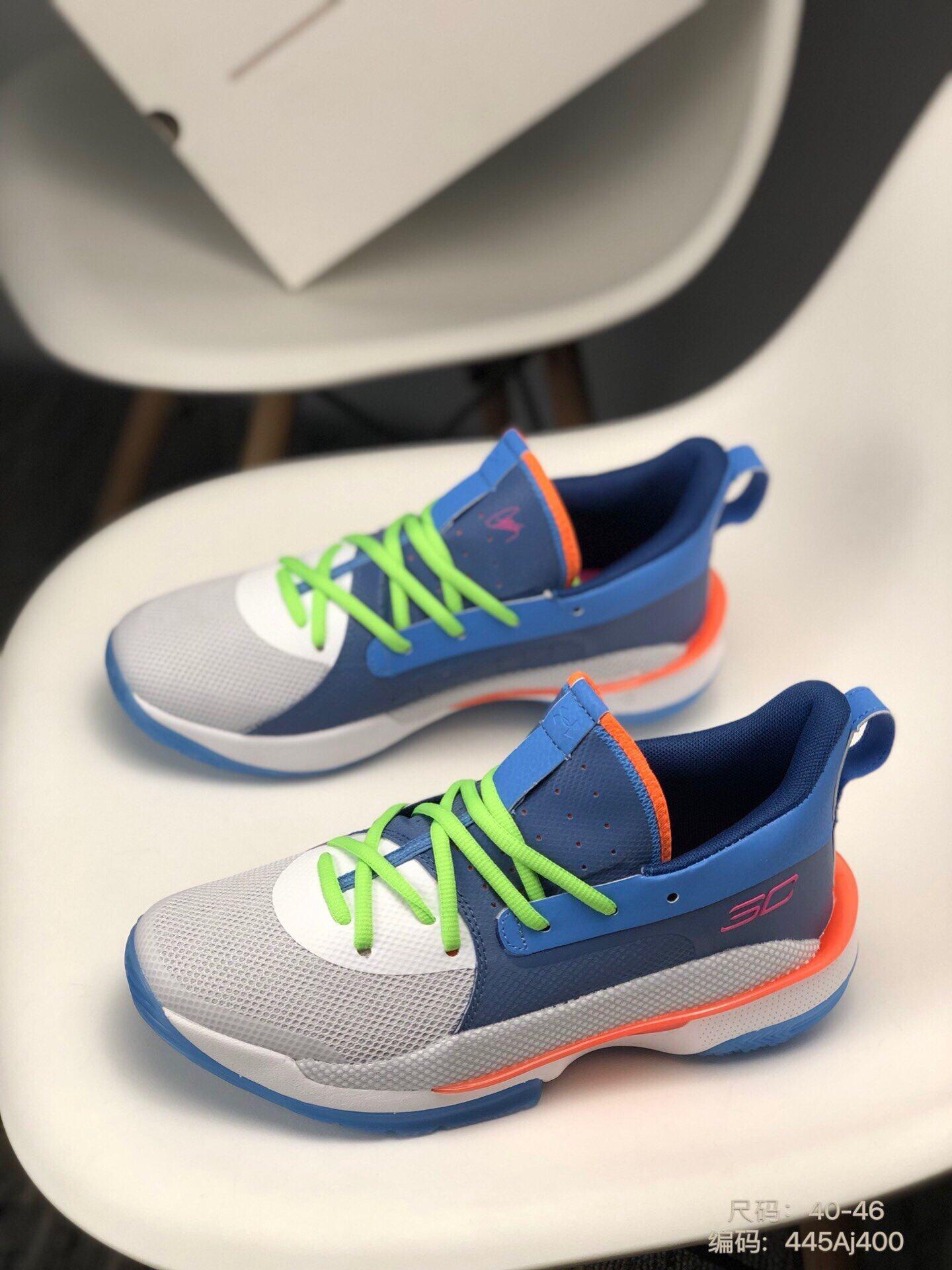 0348官方同步新品 库里7代 实战系列 全新配色缓震实战耐磨鞋