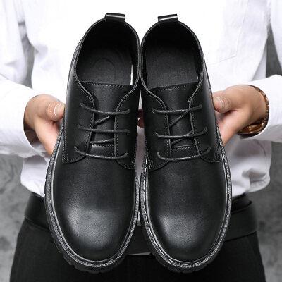 四季款休闲商务小皮鞋潮鞋子黑色金典男鞋