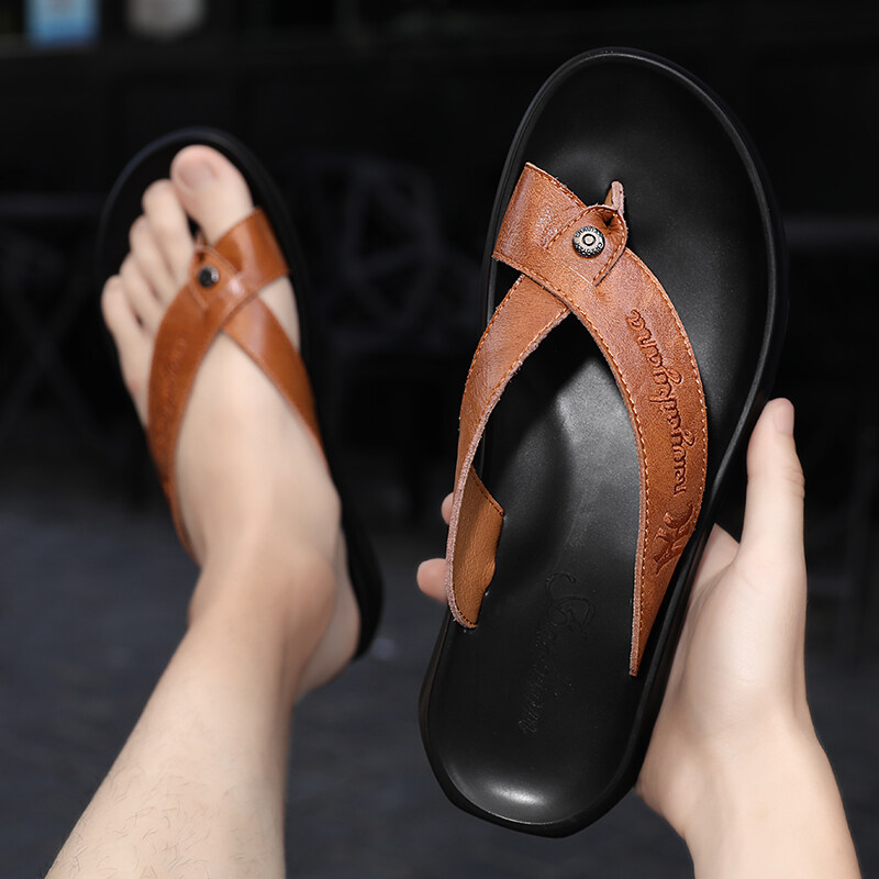 2232人字拖男士拖鞋夏季外穿防滑凉鞋韩版潮流个性2020室外刺绣n