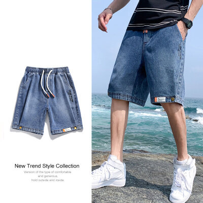 夏季牛仔短裤潮韩版宽松牛仔短裤夏季五分裤牛仔裤子男士爆款短裤