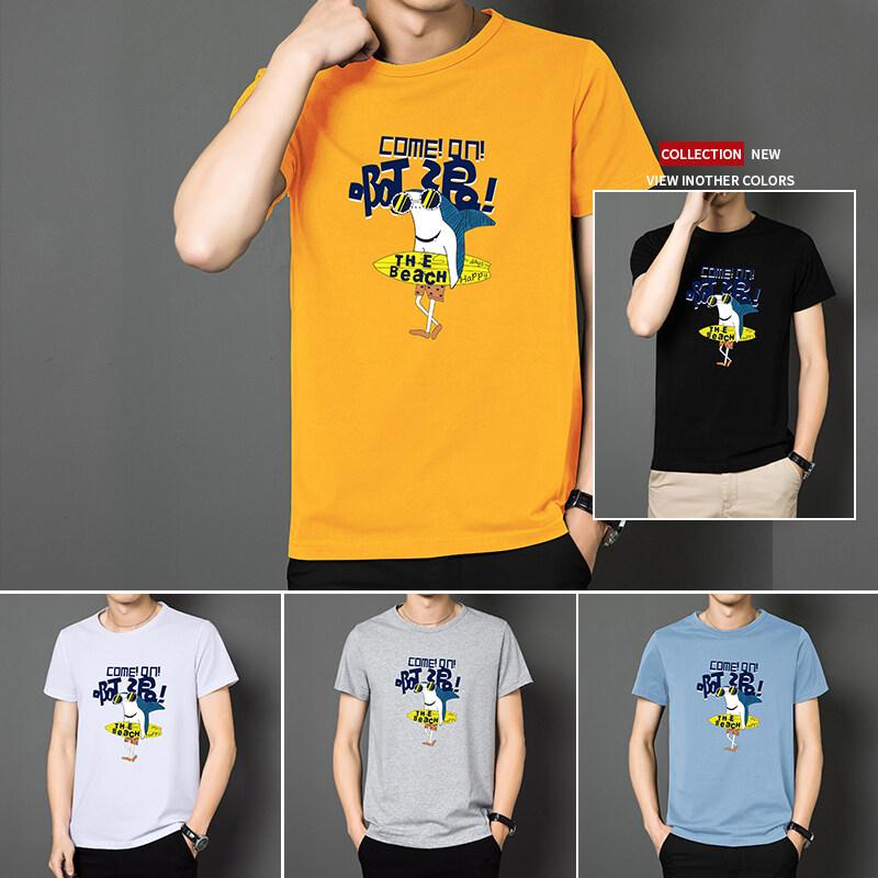 TC218TC218短袖男夏季潮流男士t恤帅气圆领体恤男生休闲半袖上衣