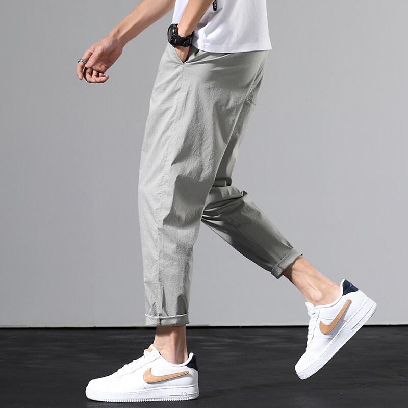 2059九分哈伦裤男夏季薄款潮流休闲裤日系学生小脚裤子修身