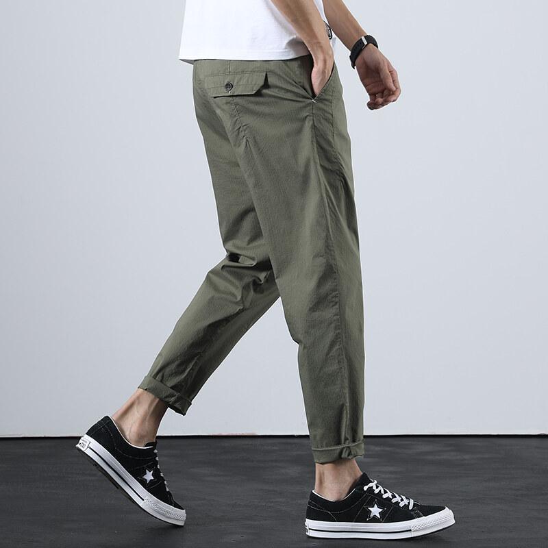 2060九分哈伦裤男夏季薄款潮流休闲裤日系学生小脚裤子修身