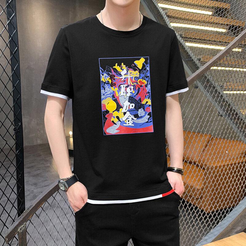 ZT2173短袖T恤男士2020夏装新款休闲打底衫韩版潮流圆领纯棉修身
