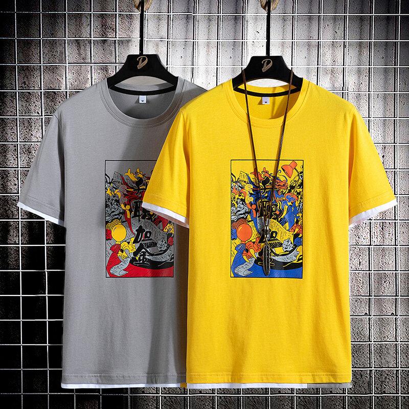 ZT21732020新款夏季纯棉男士宽松短袖t恤圆领衫半袖青少年学生衣T