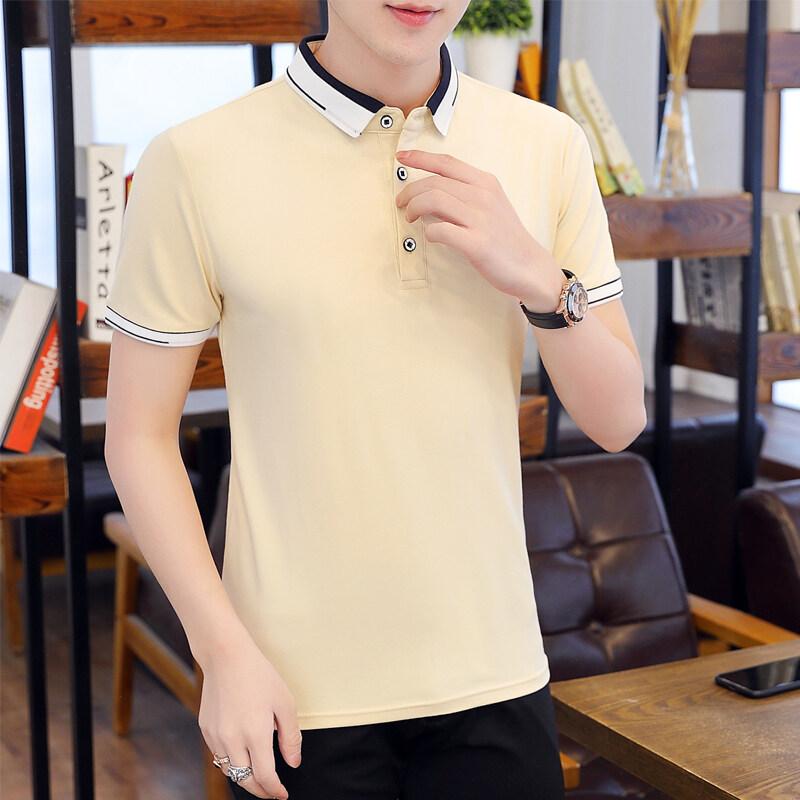 T1172020夏季新款短袖T恤男潮牌纯棉休闲翻领POLO衫韩版修身