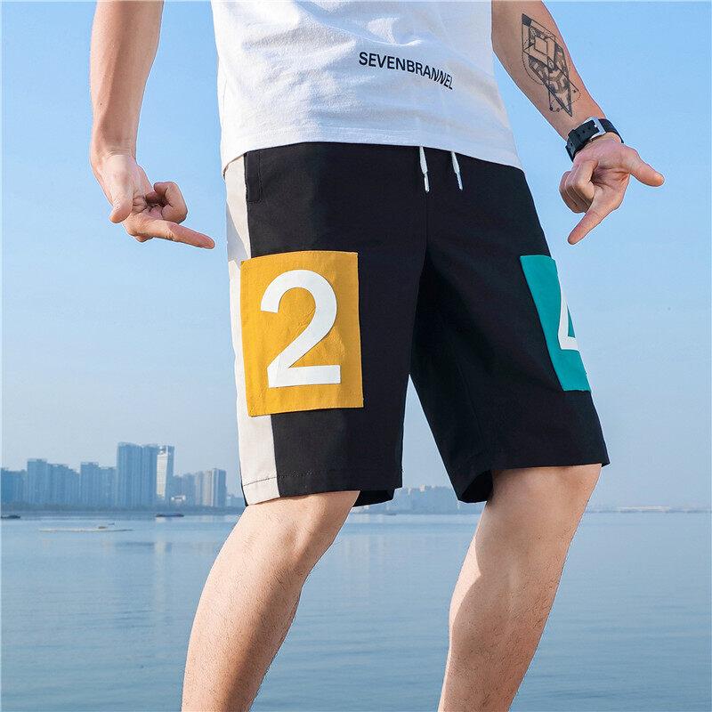 DF-7款短裤2020夏季国风短裤 潮流5分裤 沙滩裤 青年时尚短裤