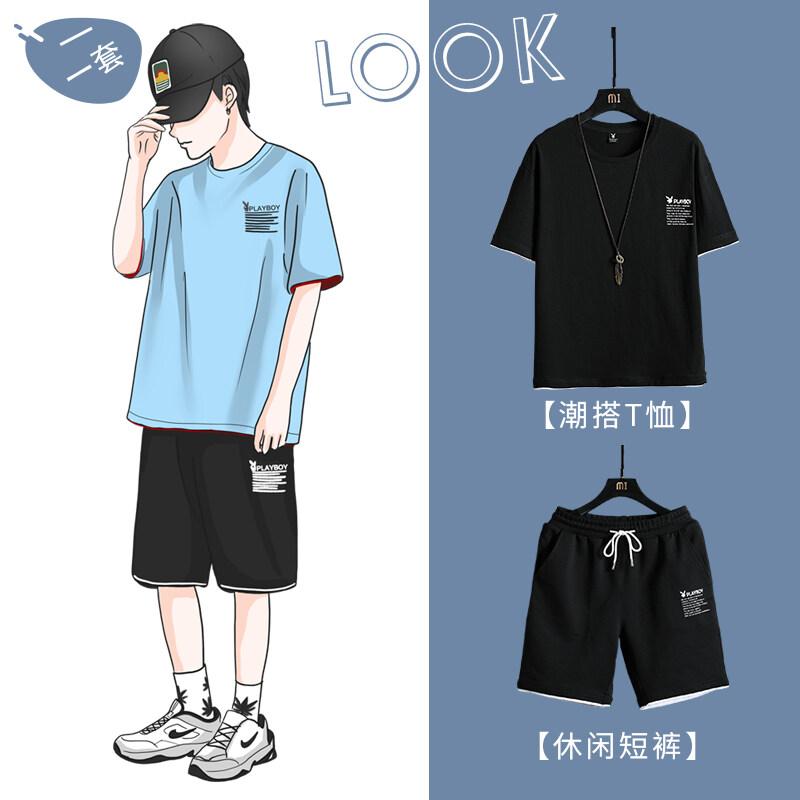 MT2038TZ男士恤夏季2020新款运动套装衣服