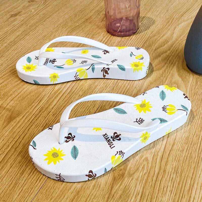 2199软底韩版时尚休闲人字拖女士中跟潮鞋凉鞋拖鞋