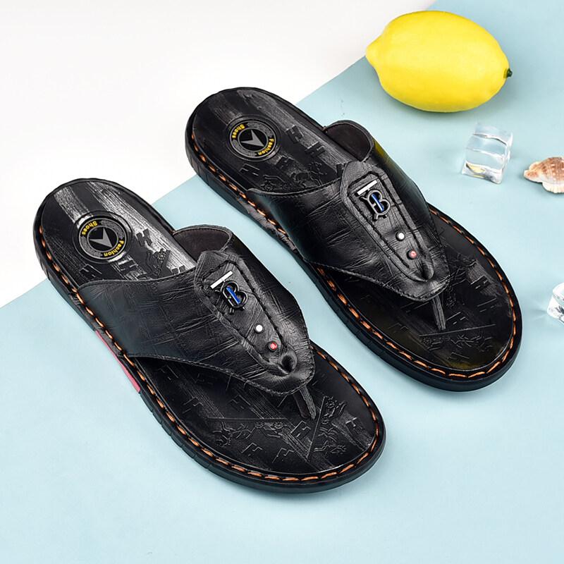 9011足途鞋业-新款 真皮 人字拖 凉鞋 拖鞋