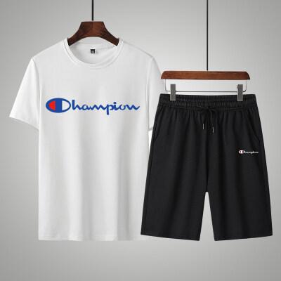 夏季男士休闲运动套装韩版潮流短袖短裤两件套帅气时尚薄款套装男