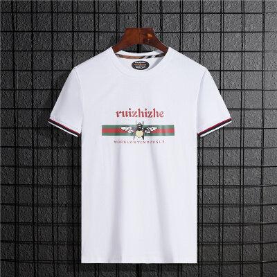 2020夏季T恤男短袖潮牌韩版潮流蜜蜂印花圆领短袖港风