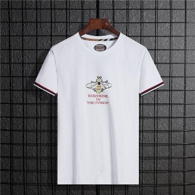 2020夏季潮流时尚新款松紧袖口蜜蜂印花韩版