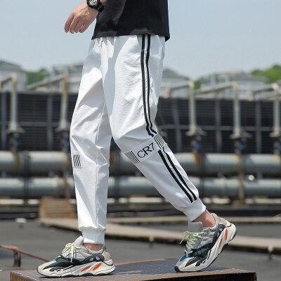 运动裤裤子男士短裤夏季卫裤工装裤小脚裤休闲裤男装长裤九分裤