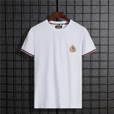 2020夏季短袖T恤男夏季新款纯色印花百搭时尚修身