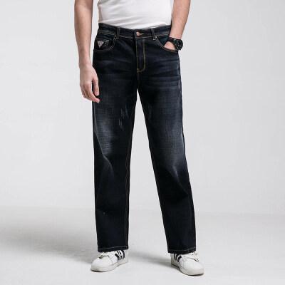 四季款主推加大加肥码直筒牛仔裤9709
