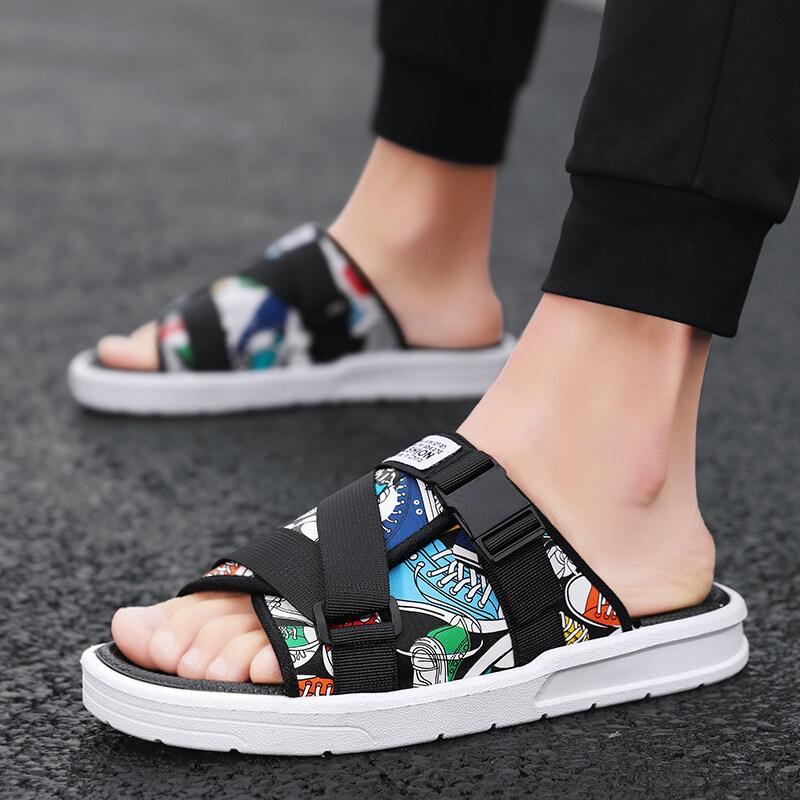 D-12020新款男鞋夏季一字拖鞋室外休闲防滑凉拖鞋男潮流个性百搭