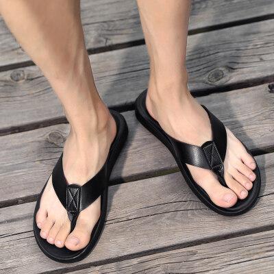 新款人字拖男拖鞋休闲男凉拖防滑夹脚拖鞋沙滩鞋潮流拖鞋韩版大码