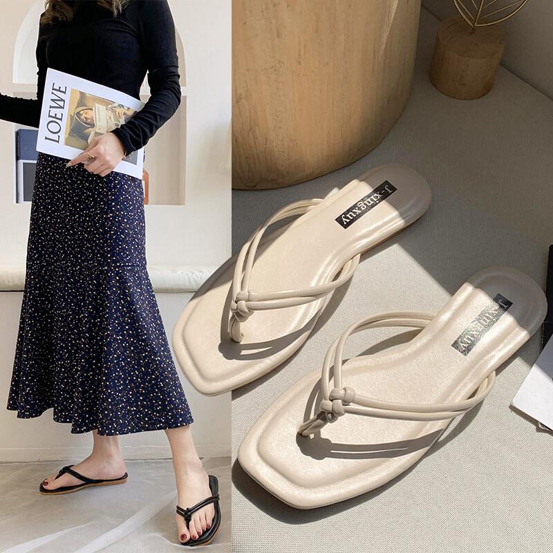 DQ15凉拖鞋休闲鞋女鞋子2020夏季拖鞋韩版潮时尚学生绒面低跟