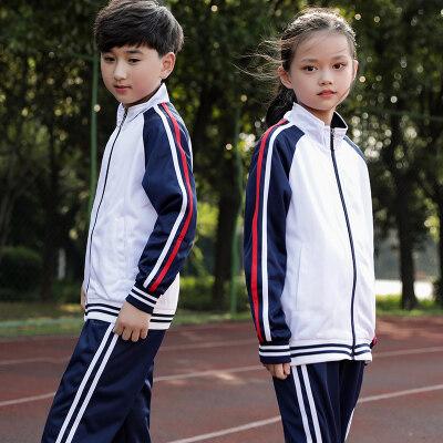 小学生校服春夏装儿童校服一2四5年级运动会班服红色老师服三件