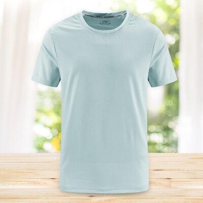 冰丝短袖T恤男夏季2020新款男士运动圆领体恤速干上衣潮流